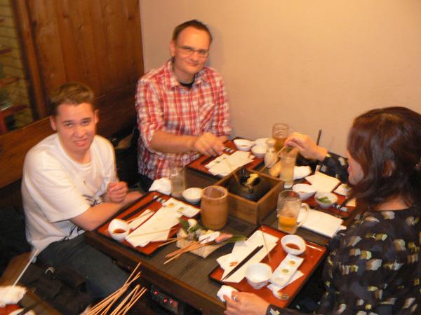 enjoying tempura!?